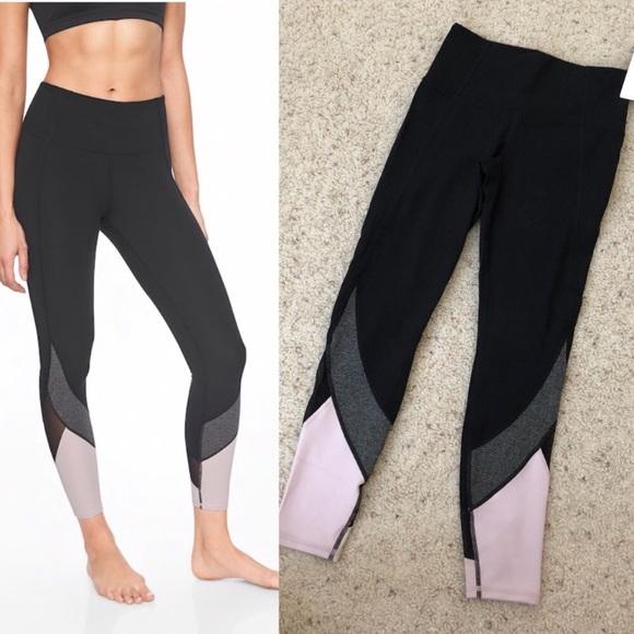 655ad43489738e Athleta Pants | Colorblock Salutation 78 Tight Leggings | Poshmark